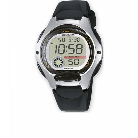 CASIO LCD Illuminator Sportuhr klein, silber-schwarz