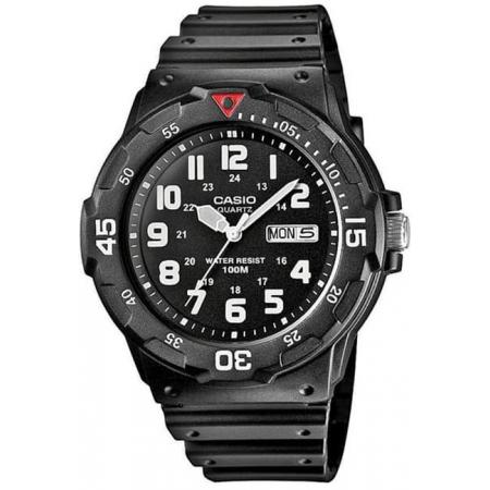 CASIO Analog Monster Sport, Tag+Datum Quartzuhr, schwarz_16929
