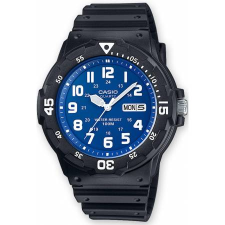 CASIO Analog Monster Sport, Tag+Datum Quartzuhr, schwarz-blau