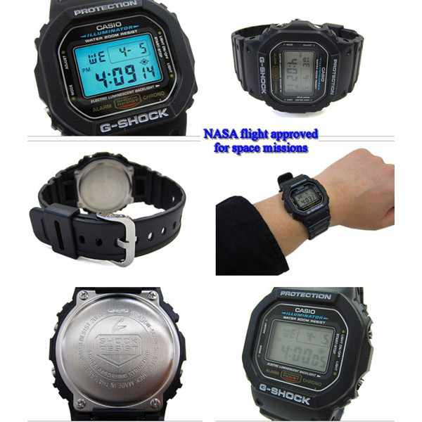 G-SHOCK, Retro, Timecatcher, LCD Digitaluhr, schwarz_170
