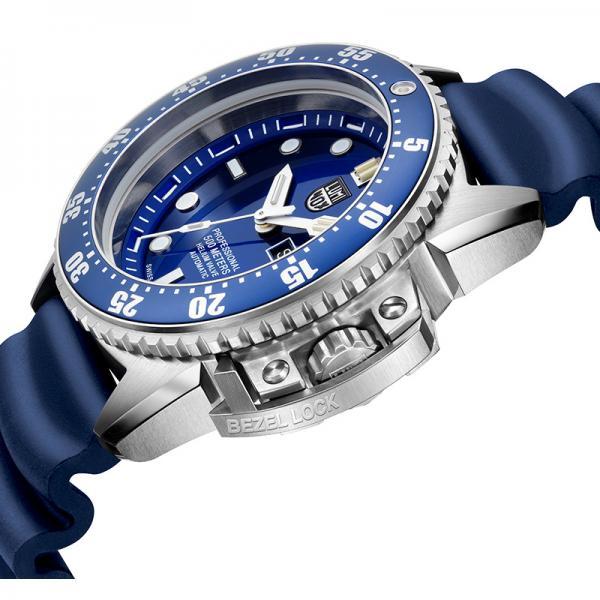 LUMINOX Deep Dive, Automatik Taucheruhr, Edelstahl blau_17032