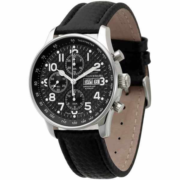 ZENO-WATCH BASEL, Pilot X-Large, Automatik Flieger Chrono Carbon_17052