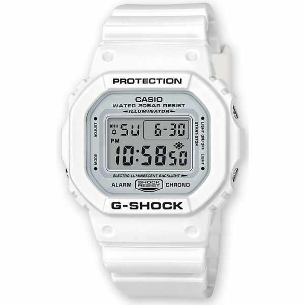 G-SHOCK Retro White, LCD Digitaluhr, weiss_17063