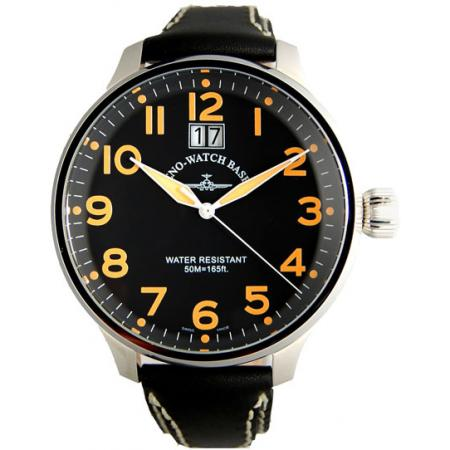 ZENO-WATCH BASEL, Pilot Super Oversized Q, Fliegeruhr, schwarz/orange_1709