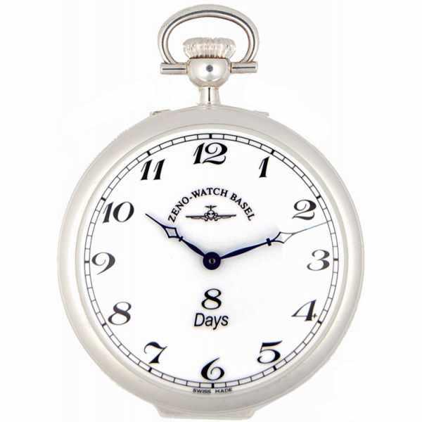 Klassik 8 Tage Taschenuhr, Sterling Silber Zahlen_1715