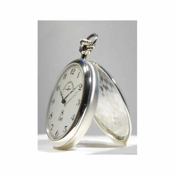 Klassik 8 Tage Taschenuhr, Sterling Silber Zahlen_1716