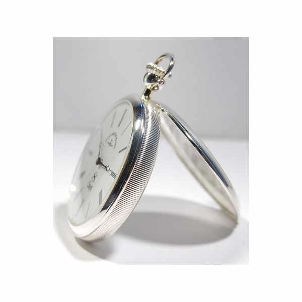 Klassik, 8 Tage Taschenuhr, Sterling Silber römisch_1717