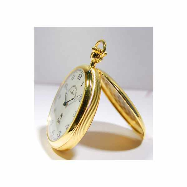 Klassik, 8 Tage Taschenuhr, Sterling Silber vergoldet römisch_1719