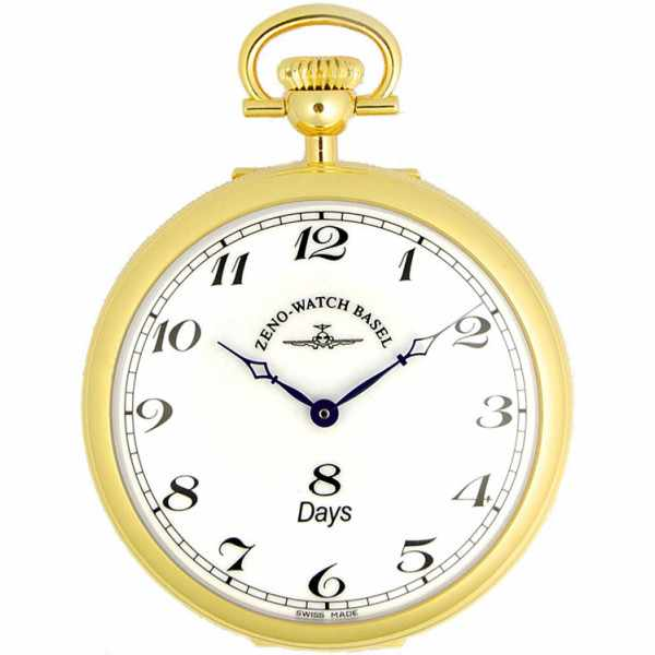 Klassik, 8 Tage Taschenuhr, Sterling Silber vergoldet römisch_1720