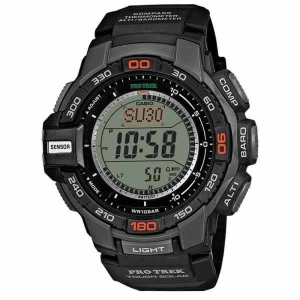 CASIO, Pro Trek, Solar, Alti-Baro-Thermo- Kompass_1734