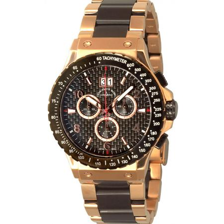 ZENO-WATCH BASEL, Goldfinger Speed, Quartzuhr Chrono mit Grossdatum_17399