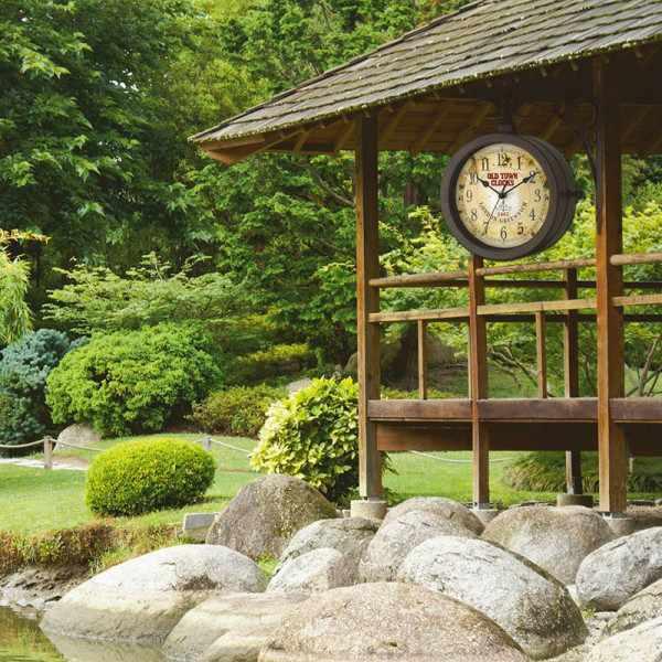 TFA Old Town Clocks, drehbare Aussenuhr, Thermometer_17424
