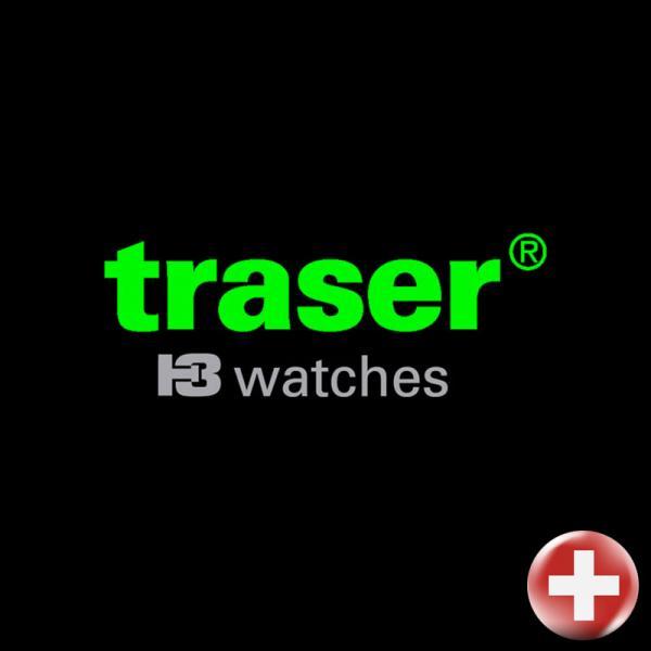 TRASER P59 Essential M Black, Lumiuhr, schwarz Stahl_17464