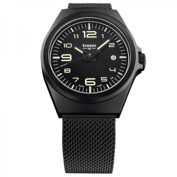 TRASER P59 Essential M Black, Lumiuhr, schwarz Stahl_17477