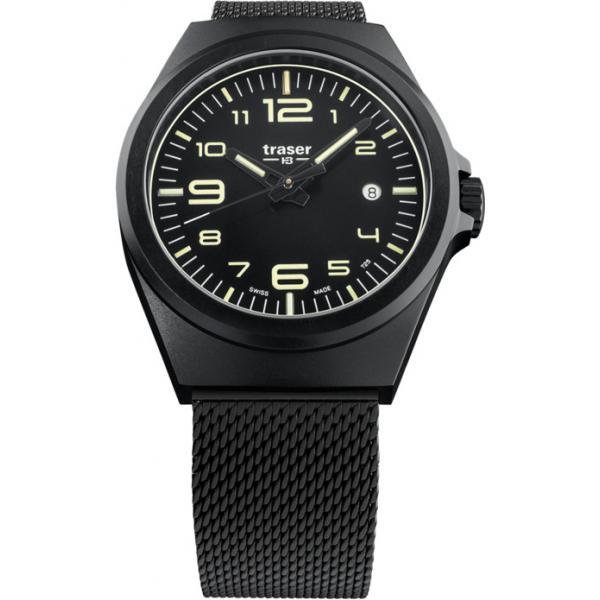 TRASER P59 Essential M Black, Lumiuhr, schwarz Stahl_17480