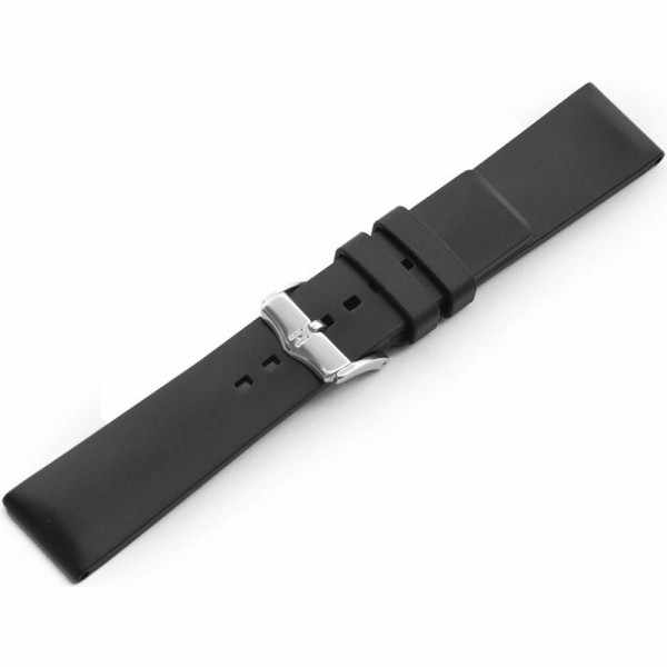 HIRSCH Uhrenband Kautschuk Pure 22mm, schwarz_17597