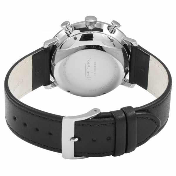 Junghans MAX BILL 40 Chronoscope, Automatik Stripes schwarz Leder_17817