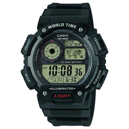 CASIO Sport-Digitaluhr Worldtimer mit 5 Alarmen_18099