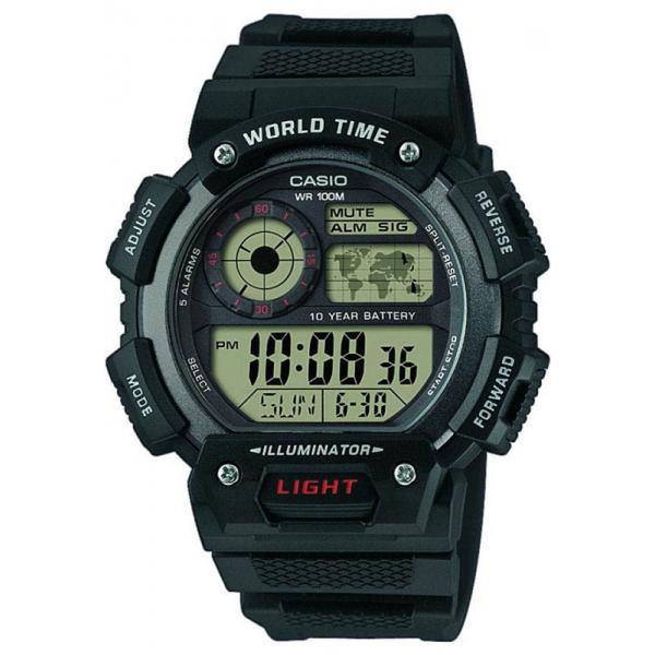 CASIO Sport-Digitaluhr Worldtimer mit 5 Alarmen_18099