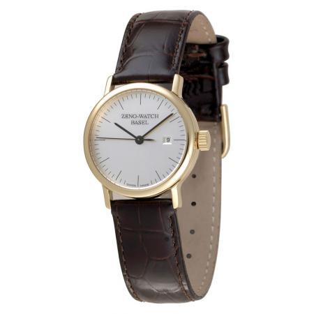 ZENO-WATCH BASEL, Bauhaus Femina, Automatik Uhr, silber, vergoldet
