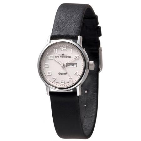 ZENO-WATCH BASEL, Retro Femina, Automatik Uhr, Tag Datum, weiss