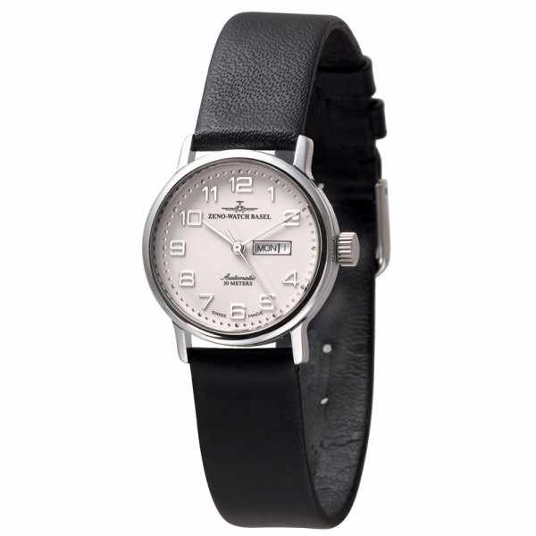 ZENO-WATCH BASEL, Retro Femina, Automatik Uhr, Tag Datum, weiss_1827