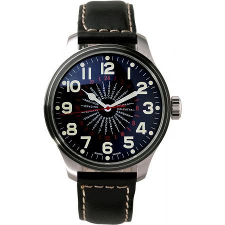 ZENO-WATCH BASEL, Pilot Oversized XL World Timer_18312