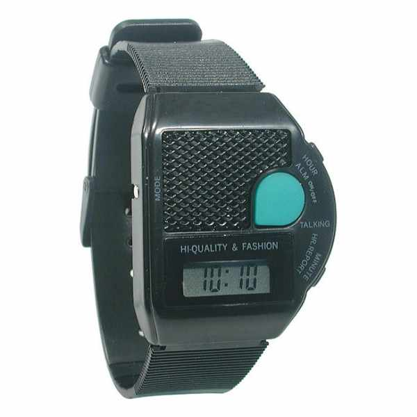 TALKING WATCH sprechende LCD Digitaluhr, schwarz_18359
