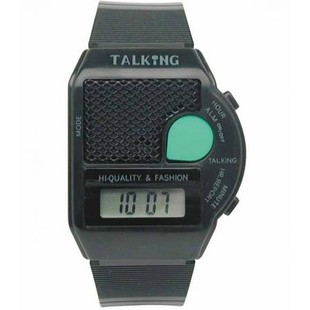TALKING WATCH sprechende LCD Digitaluhr, schwarz_18363