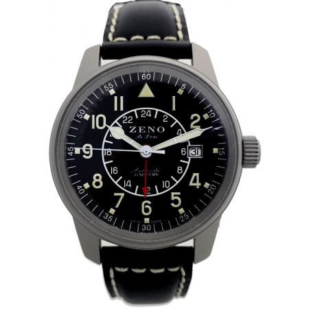 ZENO-WATCH BASEL, Classic GMT Automatik, Fliegeruhr Dualtime_18573