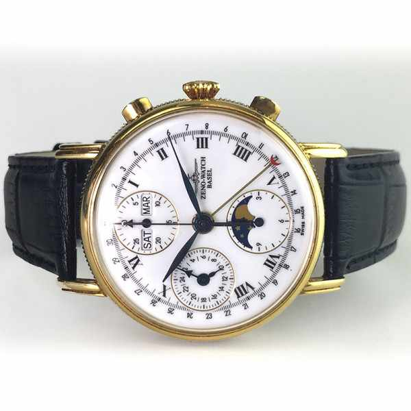 ZENO-WATCH BASEL, Vollkalender Chronograph in 18K Gold_18673