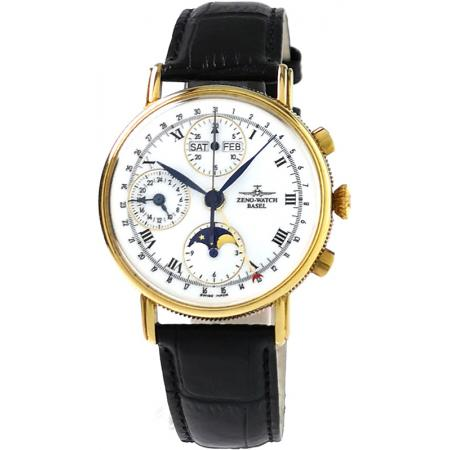 ZENO-WATCH BASEL, Vollkalender Chronograph in 18K Gold_18676