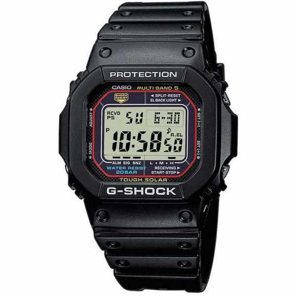 G-SHOCK, Retro, Toughtimer, LCD, Solar Funkuhr, schwarz_188