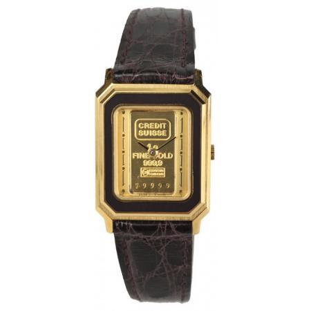 CATENA Lingot d'or, Quartzuhr mit 1g Goldbarren, schwarz_18950