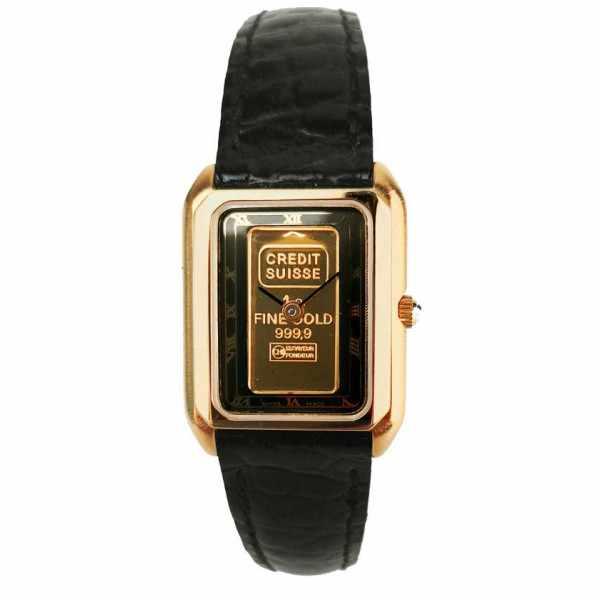 CATENA Lingot d'or, Quartzuhr mit echtem Goldbarren, schwarz_19004