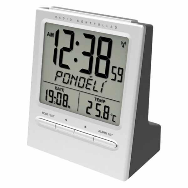 BAYARD LCD Jour, Funkwecker Thermometer + 2 Alarme, grau_19154