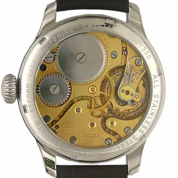 ZENO-WATCH BASEL, Retro Record, Handaufzug Uhr mit altem Uhrwerk_19171