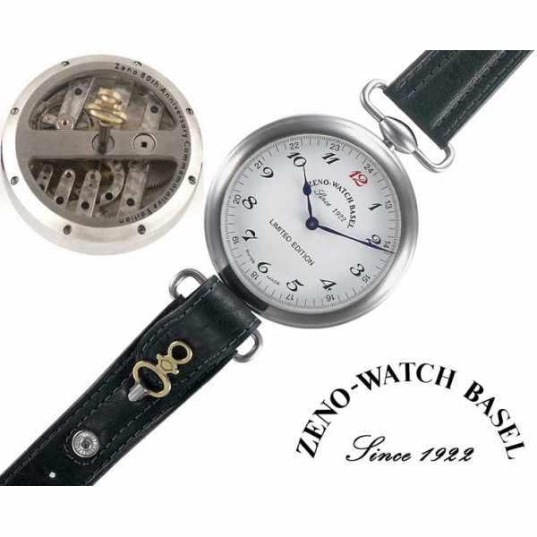 ZENO-WATCH BASEL, Retro Jubiläumsuhr mit altem Taschenuhrwerk_1942