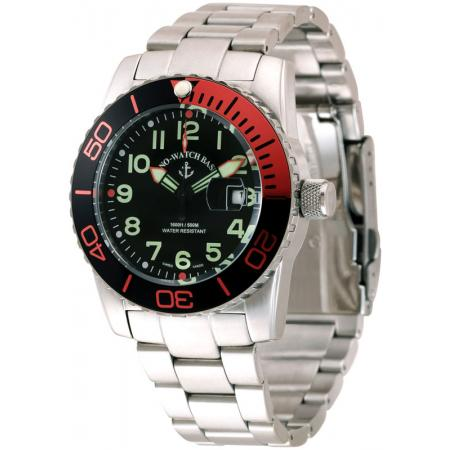 ZENO-WATCH BASEL, Airplane Diver, Quartz, XL Taucheruhr, orange