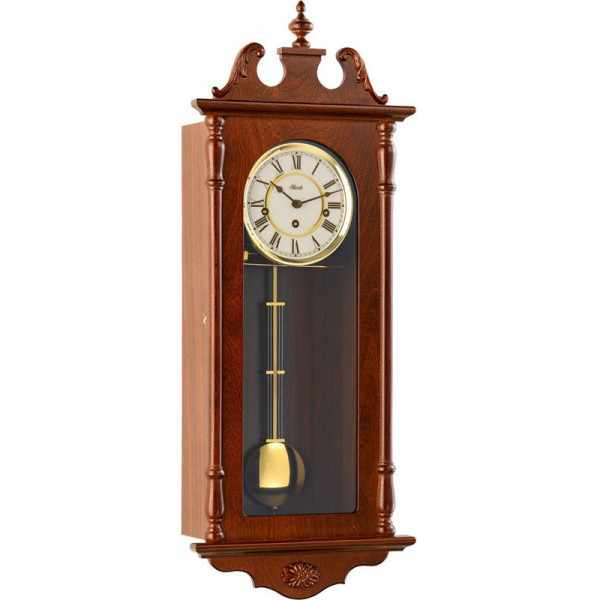 HERMLE Regulator mechanische Holz Wanduhr mit Pendel, Westminster 74_19581