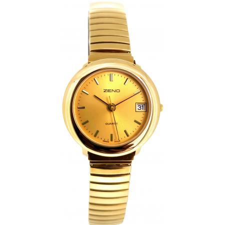 ZENO Stretch Senior Quartz Damenuhr, 25 small vergoldet_19658