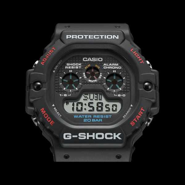 G-SHOCK Classic Protection, LCD Digitaluhr schwarz_19952