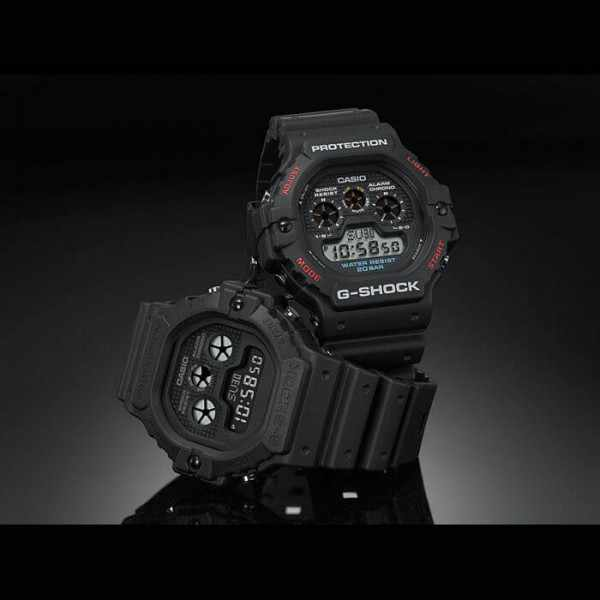 G-SHOCK Classic Protection, LCD Digitaluhr schwarz_19954