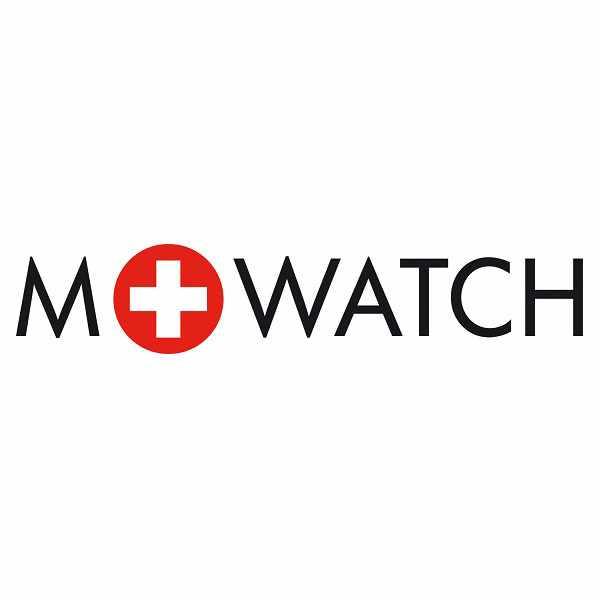 M-WATCH Core 37, Schweizer XL Quartzuhr Datum schwarz-weiss_20277