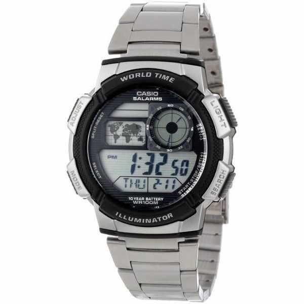CASIO Sport-Digitaluhr Worldtimer mit 5 Alarmen MB_20390