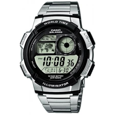 CASIO Sport-Digitaluhr Worldtimer mit 5 Alarmen MB_20391