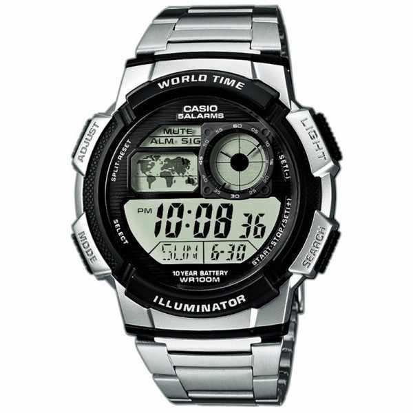 CASIO Sport-Digitaluhr Worldtimer mit 5 Alarmen MB_20391