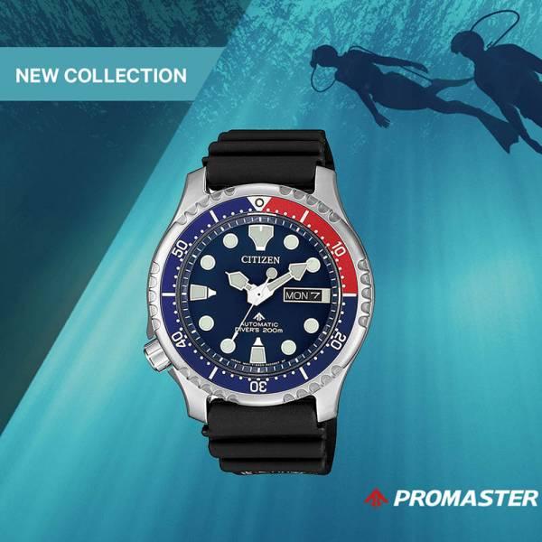 CITIZEN Promaster Sea, Diver Automatik Taucheruhr Edelstahl, schwarz-blau_20457