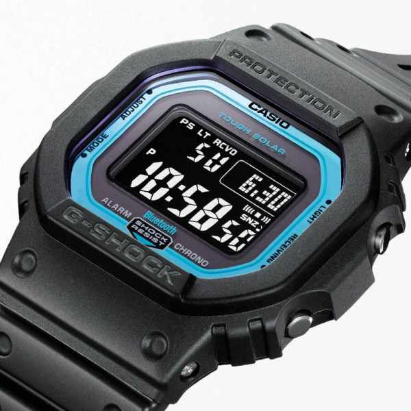 G-SHOCK Bluetooth Digital-Funkuhr Resin schwarz-blau_20467