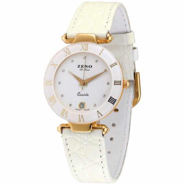 ZENO, CL Quartz Uhr, weiss 33mm_2052